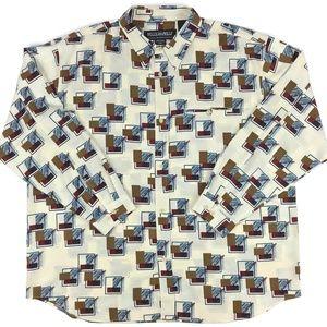 Vintage 90s PELLE PELLE Marc Buchanan Shirt Sz 3XL